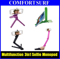 Multifunction 3 in1 Selfie Stick Monopod / Tripod / Phone holder / Tablet Holder Foldable