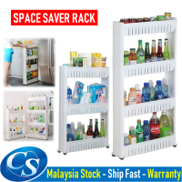 3 / 4 Tiers Space Saver Space Saving Slim Slide Storage Kitchen Rack