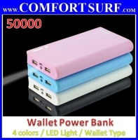 Super Wallet Power Bank 50000mAh/Super PORTABLE CHARGER BATTERY Power Bank