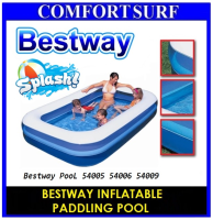 BESTWAY INFLATABLE PADDLING POOL 54005 54006 54009 Family Size
