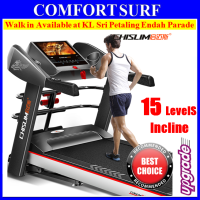 "Android 7"" LCD Touch Screen 4.0HP Chislim 7016 Electric Auto Incline Treadmill 62CM Wide Platform 4Ways Spring Damping"