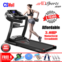 FREE 8 Gifts - 3.0HP ADSports AD509 Home Exercise Gym Fitness Electric Motorized Treadmill Running Machine