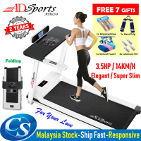 3.5HP ADSports AD520 Luxury Super Slim 58CM Running Platform Home Exercise Gym Fitness Electric Motorized Treadmill