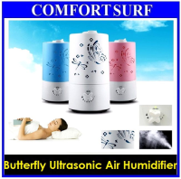 The New!! Butterfly Design Ultrasonic Humidifier Fresh Air Cleaner With No Noise