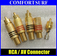 Solderless RCA Male Plug AV Audio Video Connector Adapter