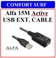 15m Original Alfa Active USB 2.0 Extension Cable