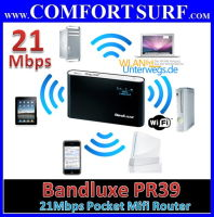 21Mbps Bandluxe PR39 3G HSPA+ Mobile Broadband Mifi Wifi Router