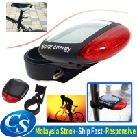 LED Solar Powered Solar Charging LED Flashlight Bicycle Tail Light Cycling Rear Emergency Safety Red Light Bike Lamp