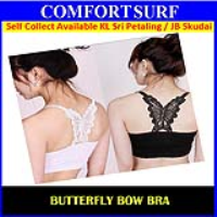 Seamless Lace Butterfly Strapless Tube Bra Tops