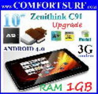 Zenithink C91 Upgrade 1GB RAM + 8GB Android 4.0s ICS Tablet PC