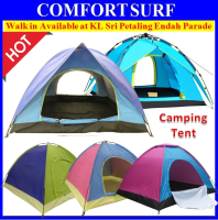 Outdoor Single/Double Layer Door 2/3/4 Persons Waterproof Camping Tent