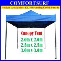CP018 Grade A Foldable Canopy Tent for Event Khemah Kanopi Red and Blue 2mx2m, 2.5mx2.5m, 3mx3m