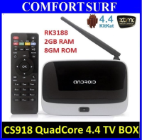 16GB Latest CS918 Quad Core 2GB RAM Android 4.4 Smart TV Box optional Air Keyboard Mouse