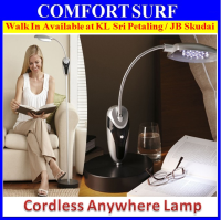 16 LED Cordless Anywhere Lamp With Flexible Neck and Adjustable Height &No Outlet Needed