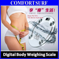 Crystal Tempered Glass LCD Digital Body Weighing Scale ...