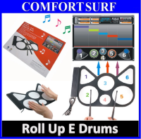 USB Roll Up Electronic Drum Child Kids Musical Instrument Work with computer