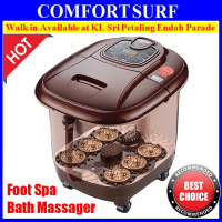 Portable Auto Foot Spa Bath Massager Taiji Style Bubble Infrared Heat LED Display Relax With Remote Control