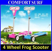 Quality Kids Children Child Four Wheel Frog Scooter Scissor - High stability & Adjustable Heigth