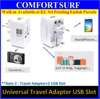 Universal Travel Adapter Plug International Charger adapter Dual USB Port