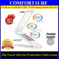 Multi function LED Table lamp touch sensor Flip Eye protection With Alarm Clock Calendar