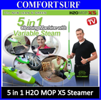 H2O Mop X5 5in1 Multi-Floor Steam Mop Cleaner Steamer with Accessories