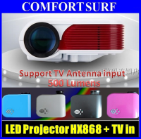 "HX868-TV LED projector Upto 100"" 500 Lumens with TV Tuner"