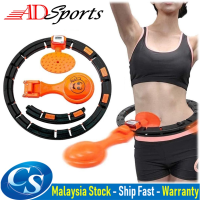 ADSports Smart Hula Hoop 360 ° Rotating Weighted LCD Counting Adjustable Hoola Hoop For Slimming Fat Burning Weight Loss