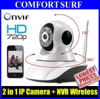 SecurEyes 1280*720P HD 1.0Mp  2 in 1 P2P Wireless IP Camera + NVR & PTZ + IR Night Vision