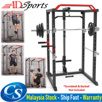 ADSPorts Gym Total Body Workout Training System Multi-function Squat Rack Power Cage Station With Lats Pull Down
