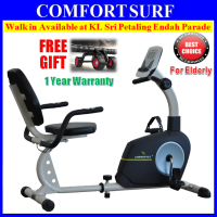 LongStyle Recumbent Fitness Stationary Exercise Bike with Display Heart Pluse Sensor Cardio Workout