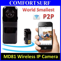 World Smallest MD81 P2P Wireless IP Camera Wifi Sport Mini DV DVR Recorder