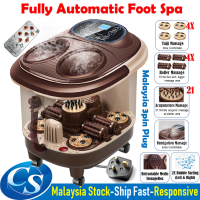 Fully Automatic Foot Spa Massager 4x Taiji + 4x Roller + 21 Acupoint + 2x Bubble Surfing Massage