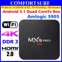 Latest MXQ Pro 4K Amlogic S905 1G 8G Full HD 1080P Android 5.1.1 TV Box optional Air Keyboard Mouse