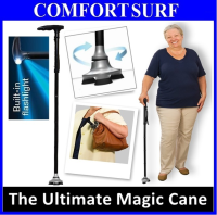 Foldable Ultimate Magic Cane Adjustable Heights + LED + Wide Base