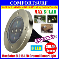 Solar Powered LED lamp Stainless Steel In Ground light Outdoor Garden Pathway Deck Marker