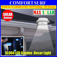 Outdoor Solar Powered 3 LED Wall Path Landscape Mount Garden Fence Light Lamp