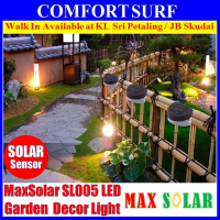 Solar Powered LED Yard Lawn Light Outdoor Landscape Garden Path Gutter Fence Light Lamp