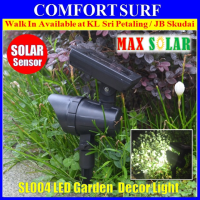 Outdoor Adjustable Angle Solar Powered LED Security Garden Yard Light
