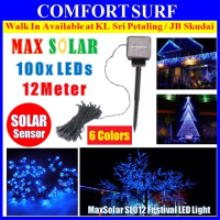 Solar LED String 12m 100 LEDs Festival Christmas Raya Party Garden Fairy Lights SL012