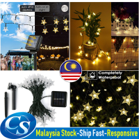 Solar Outdoor Waterproof 9m 50 LED Star String Lights for Garden Christmas Tree Decorations Wedding Party Lights