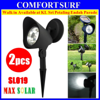 Set of 2pcs, MaxSolar SL019 Solar 4-LED Garden Lamp Spot Light Lawn Landscape Party Path Outdoor Spotlight