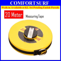20M Hand Disc Flexible Ruler Fiber Measuring Tape Hand Tools 20 Metres