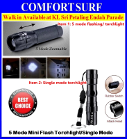 Mini Portable 5 Mode Zoomable Focusing Adjustable Torchlight Flashlight