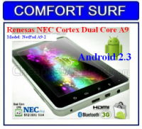 7 inch Renesas NEC Cortex Dual Core A9 1Ghz Android 2.3 Capactive Tablet