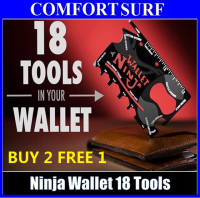 Offer * 2pcs Wallet Ninja 18 in 1 Multi Purpose Credit Card Size Pocket Screw Driver Tool