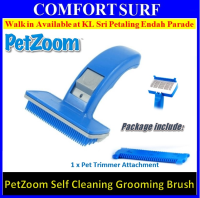 PetZoom Pet Dog and Cats Self Cleaning Grooming Brush Com Bath