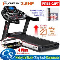Chislim R8 Luxury Treadmill 3.5HP With Electric Incline Decline + 4 Way Spring Damping System