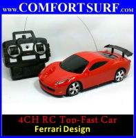4 CHANNEL Ferrari Design Top-Fast RC IR remote control Car Toy With Light