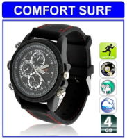 4GB HD Waterproof Spy Watch Camera Video camcorder (black)