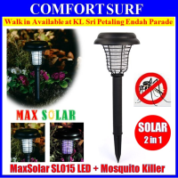 in 1 Solar Powered UV LED Light Lamp + Mosquito Killer For Garden Lawn Mosquitoes Insect Pest Repeller Killer